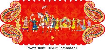 Indian wedding ceremony indian hindu wedding stock vector 580558681 indian wedding ceremony indian hindu wedding invitation card all elements are in separate layers color stopboris Gallery