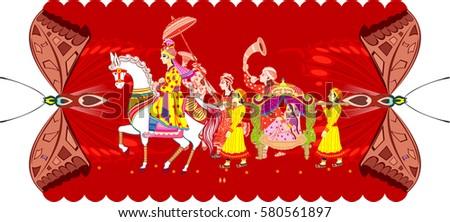 Indian Wedding Ceremony Indian Hindu Wedding Stock Vector 2018