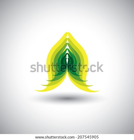 indian womans hand greeting posture of namaste - vector graphic. This graphic can also represent meditation practice, offering prayers to god, respect to others, welcoming guests, yoga mudra - stock vector