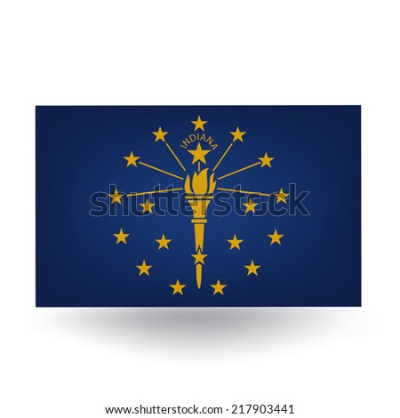 Indiana Flag - stock vector