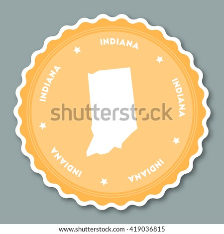 Back School Vector Map United States Stock Vector - Us state sticker map