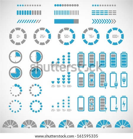 Indicators collection - stock vector