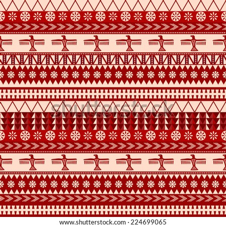 indigenous north american style vector seamless pattern - stock vector