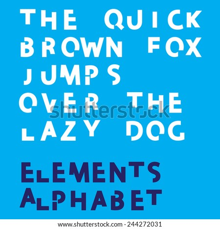 Individual Alphabet Characters of a Custom Font - Elements Uppercase Bold  - stock vector