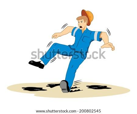 Man Slipping Stock Vectors, Images & Vector Art | Shutterstock