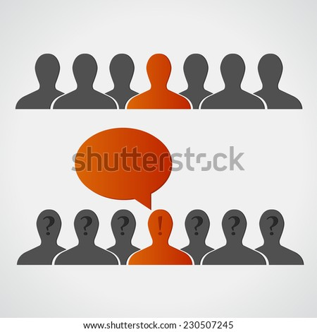 individuality. idea - stock vector