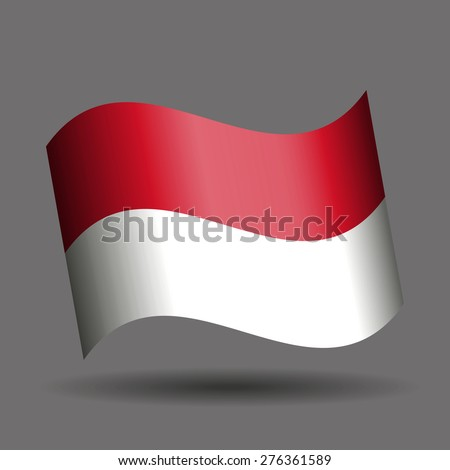 Indonesia waving flag