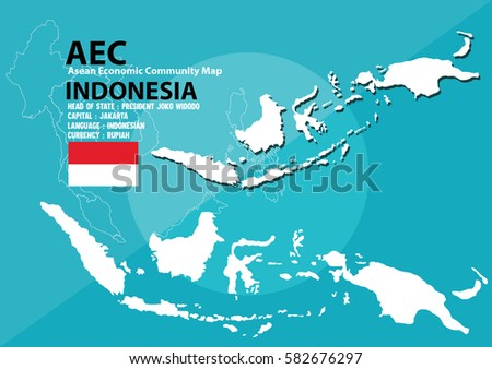 Indonesia world map indonesia southeast asia stock vector indonesia world map indonesia are in southeast asia and in aec group gumiabroncs Gallery