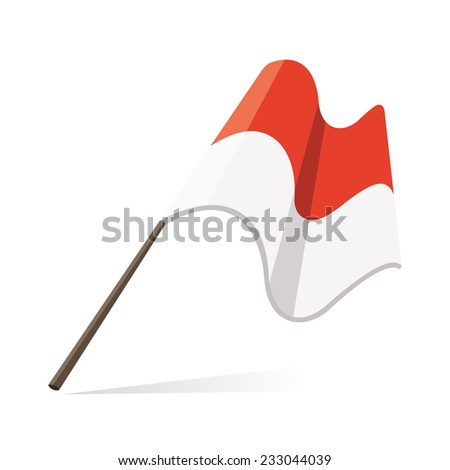 indonesian flag, flag of indonesia - stock vector