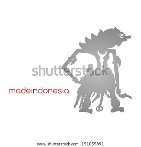 indonesian puppet culture devil character - stock vector