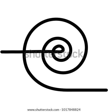 Induction Spiral Electrical Symbol Induction Hob Stock-Vektorgrafik ...