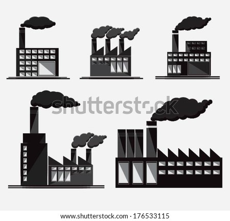 Industrial and Building icons,vector
