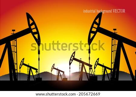 industrial background vector - stock vector
