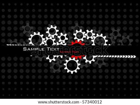 Industrial background. Vector. - stock vector