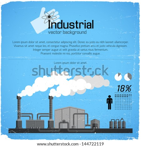 Industrial background. Vector Illustration, eps10, contains transparencies. - stock vector