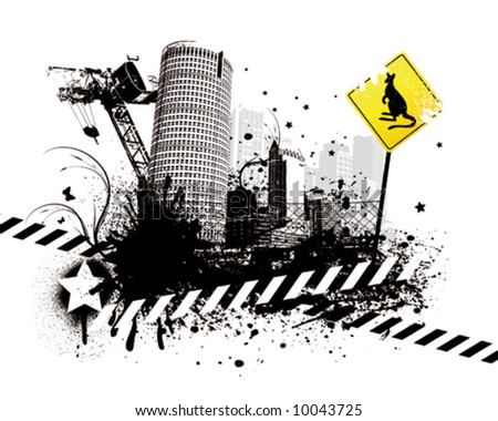 Industrial City - stock vector