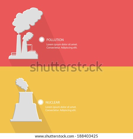 Industrial concept,Blank for text,vector - stock vector