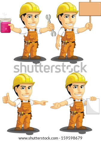 Industrial Construction Worker Customizable Mascot 12