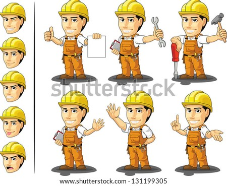 Industrial Construction Worker Mascot 2 - stock vector