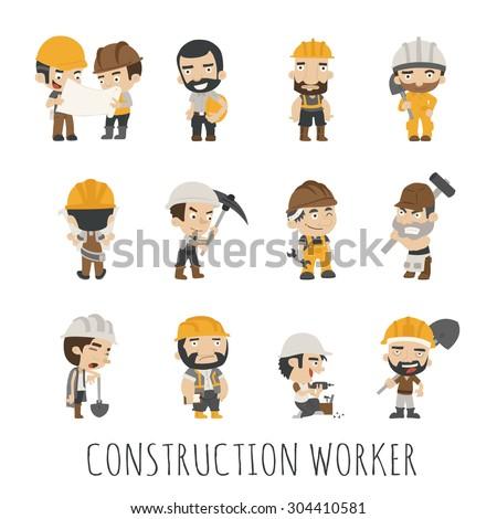 Industrial contractors workers people ,  eps10 vector format - stock vector