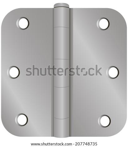 Industrial door fastening classical forms. Vector illustration. - stock vector