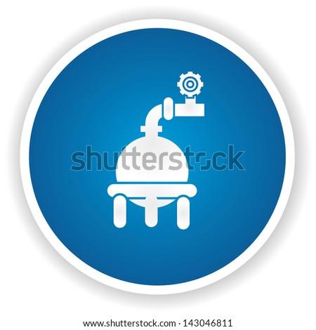 Industrial ,gas system symbol,vector - stock vector