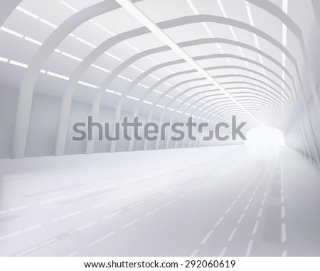 Industrial hall. Vector illustration. - stock vector