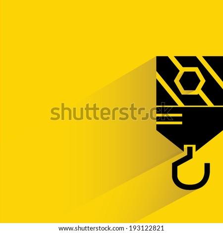 industrial hook - stock vector