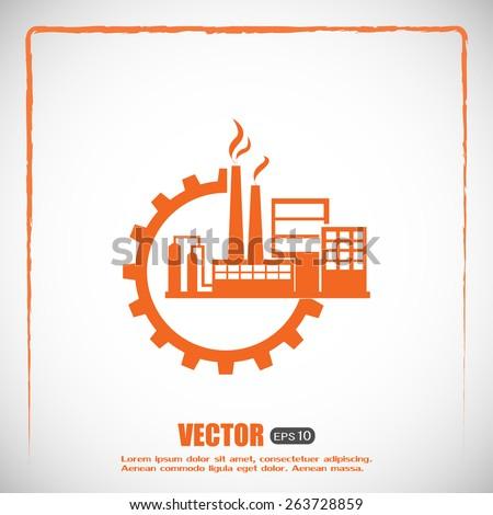 Industrial icon - stock vector