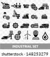 Industrial icons,Blank background version,vector - stock photo