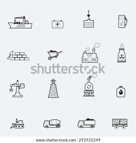 Industrial line icon - stock vector