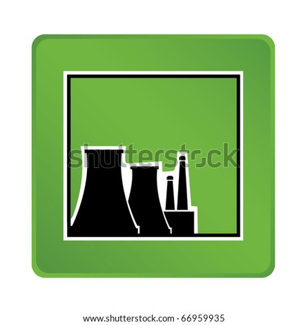 Industrial object on a green background - stock vector