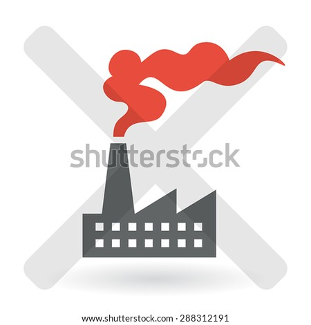 Industrial Pollution Concept - stock vector