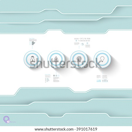 Industrial Spread Sheet Concept For Your Horizontal Science or Tech Presentation, - stock vector
