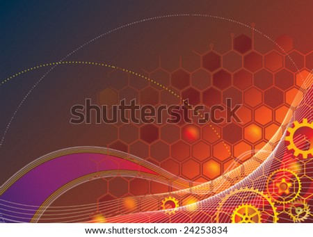 Industrial Technology Background. vector layered. - stock vector