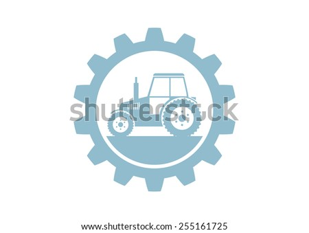 Industrial vector icon on white background - stock vector
