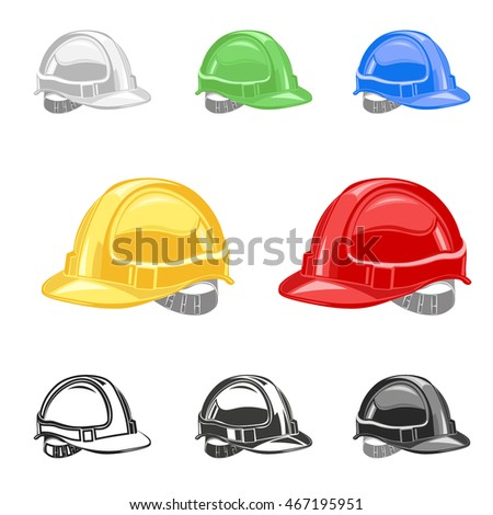 Industrial workers icon safety helmet construction icon