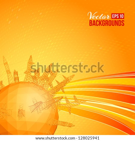 Industrial World - a vision of humorous. - stock vector