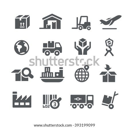 Industry and Logistics icons // Utility Series - stock vector