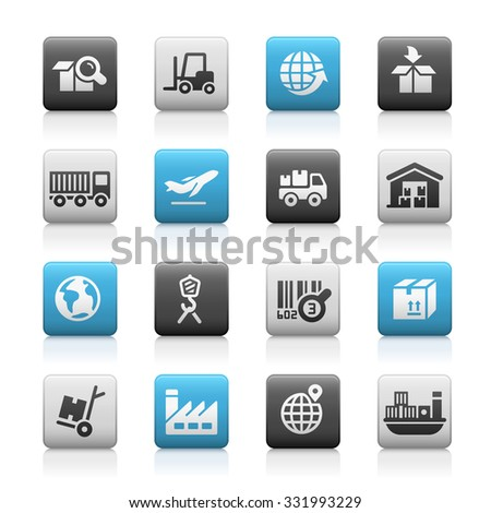 Industry and Logistics // Matte Series - stock vector