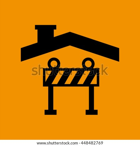 industry construction house with icon, vector illustration