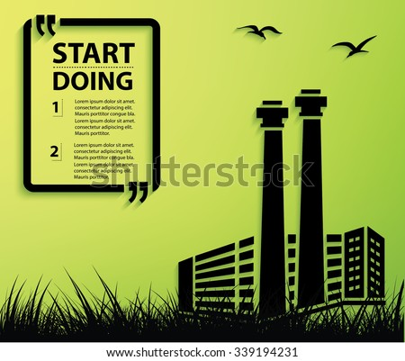 Industry design,Your text on clean background,vector - stock vector