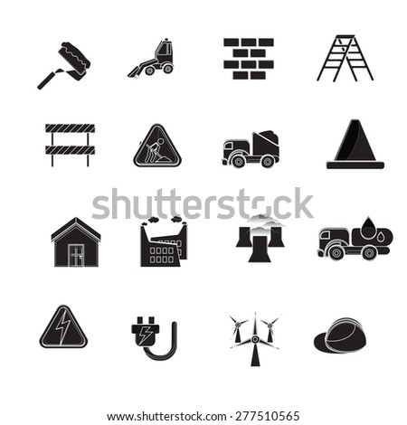 industry icons - stock vector