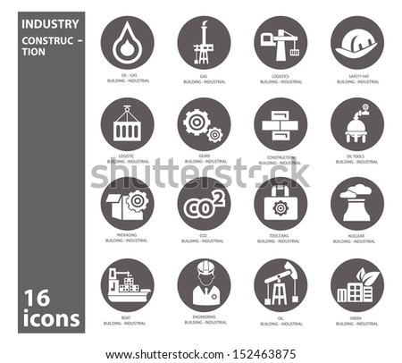 Industry icons,vector - stock vector
