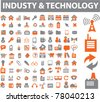 industry & technology icons, signs, vector illustrations - stock vector