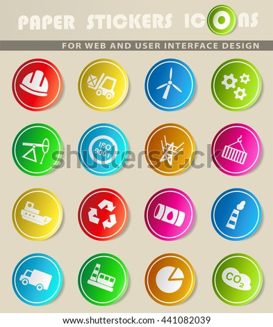 industry web icons for user interface design