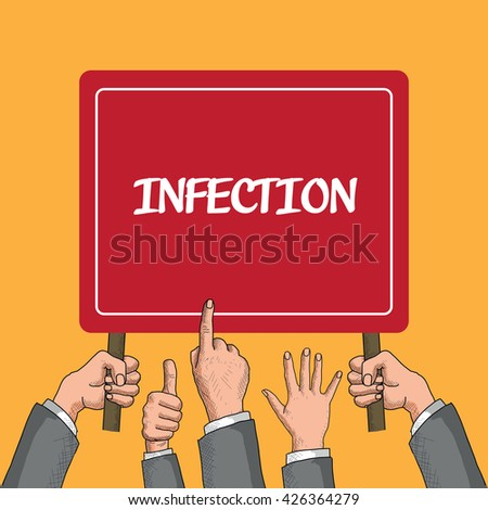 Infection - stock vector