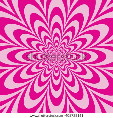 Infinite Flower op art design in pinks. Vector: Colors are grouped for easy editing. - stock vector