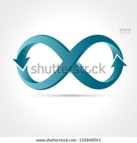 infinity arrow - stock vector