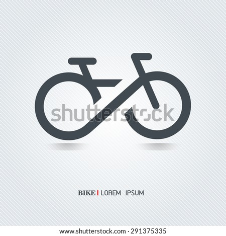 Infinity bicycle vector on background - stock vector